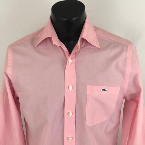 Vineyard Vines Other - Vineyard Vines Slim Tucker Shirt Button Up Pink S